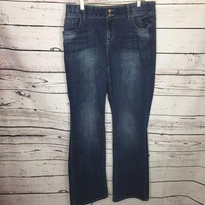 Lane Bryant 18 long t3 slimming jeans